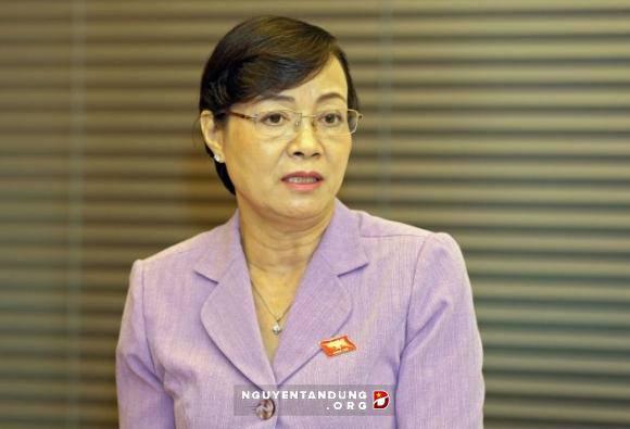 Đại biểu quốc hội Nguyễn Thị Quyết Tâm tại phiên thảo luận tổ sáng 29/5.